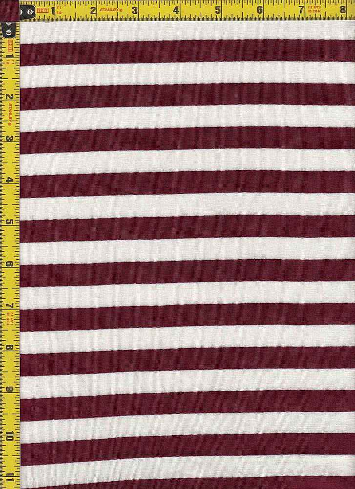 "BP70048 / BURGUNDY/IVORY / BP70048 RS STRIPES 55 [1/2"" X 1/2""]"
