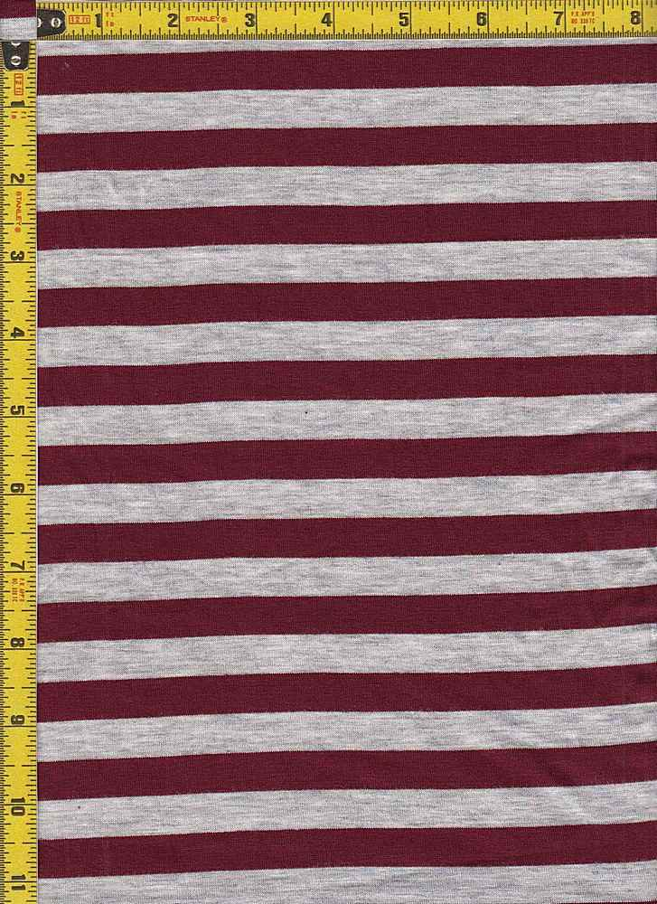 "BP70048 / LT H GRAY/BURGUNDY / BP70048 RS STRIPES 55 [1/2"" X 1/2""]"
