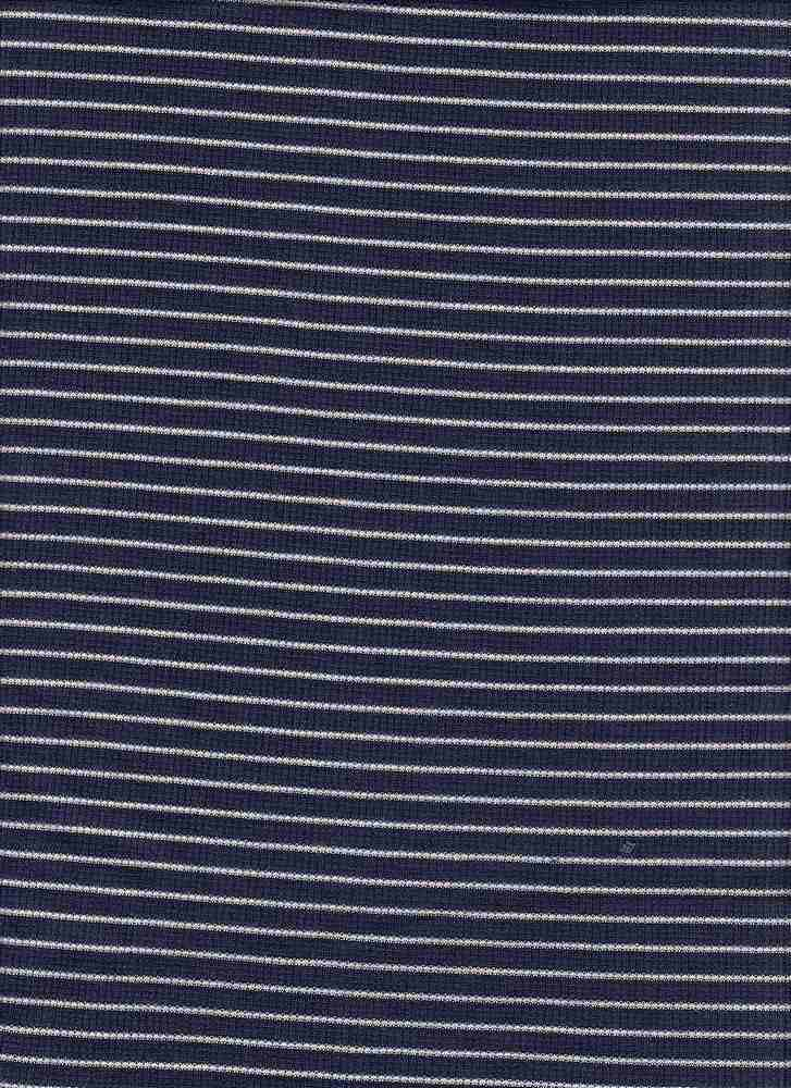 "BP70051 / NAVY 9 [BLUEBERRY]/IVORY / RIB STRIPES 1/16"" X 1/4"" [2X1 RIB]"