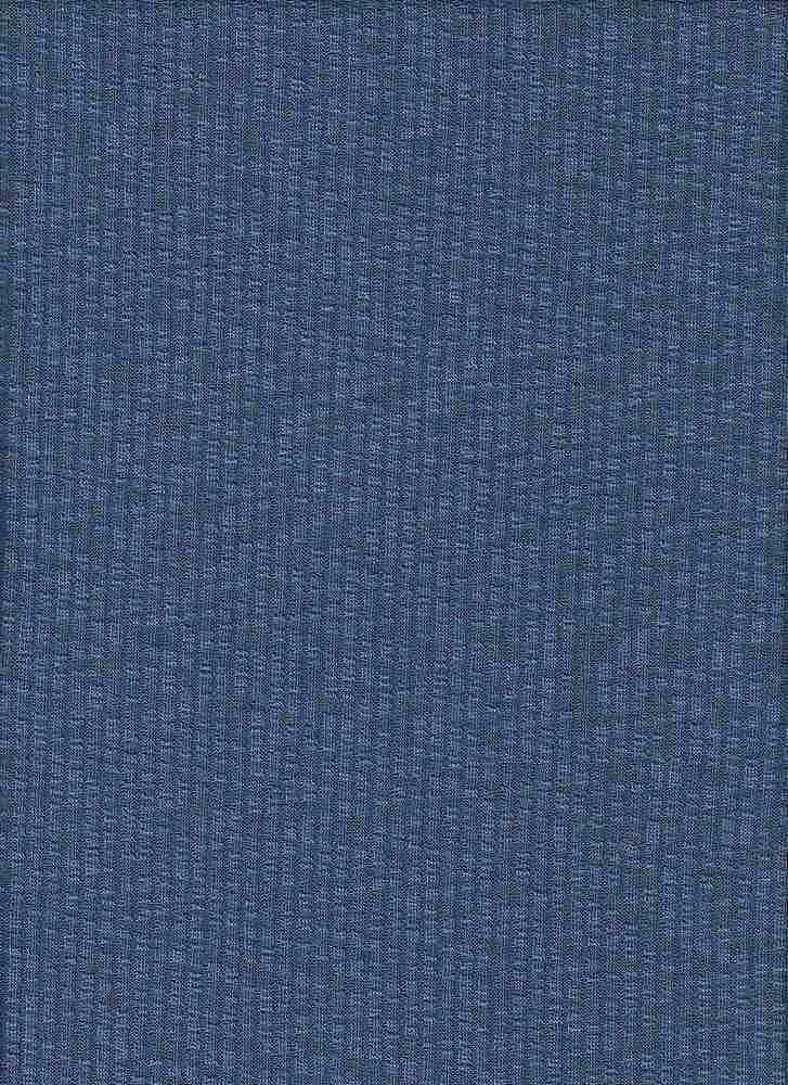 BP70052 DARK DENIM BLUE SOLID NOVELTY TWO-TONED KNIT