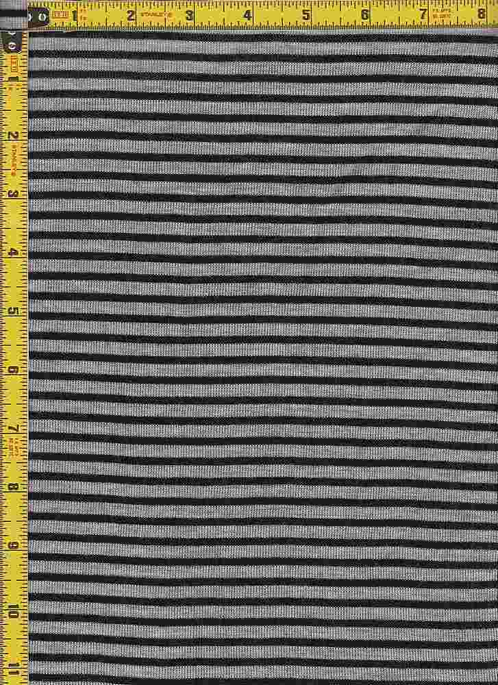 "BP70053 / H GRAY/BLACK / HACCI MESH STRIPES 3/16"" X 1/8"""