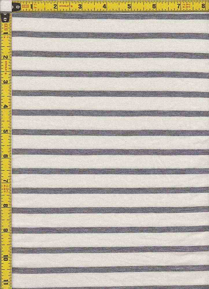 "BP70054 / IVORY/H. GRAY / RS STRIPES 5/8"" X 1/4"""