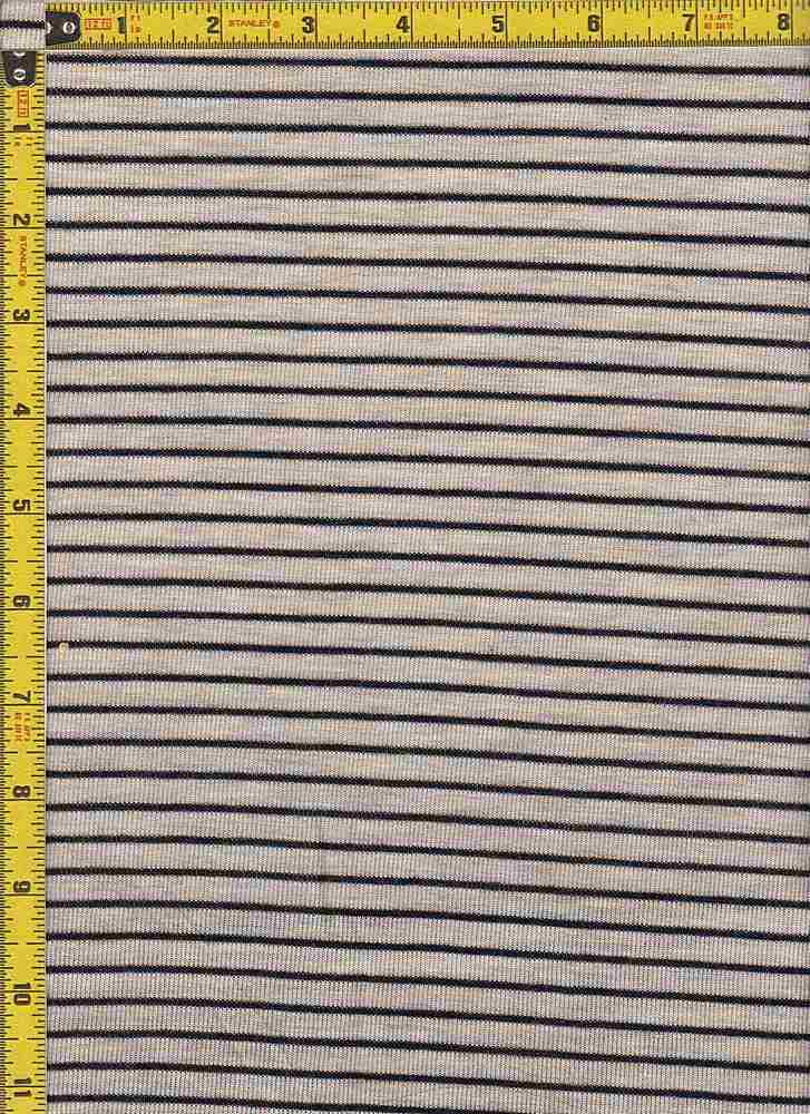 "BP70087 / LT OATMEAL/BLACK / BP70087 HACCI MESH STRIPES 11/16"" X 1/4"""