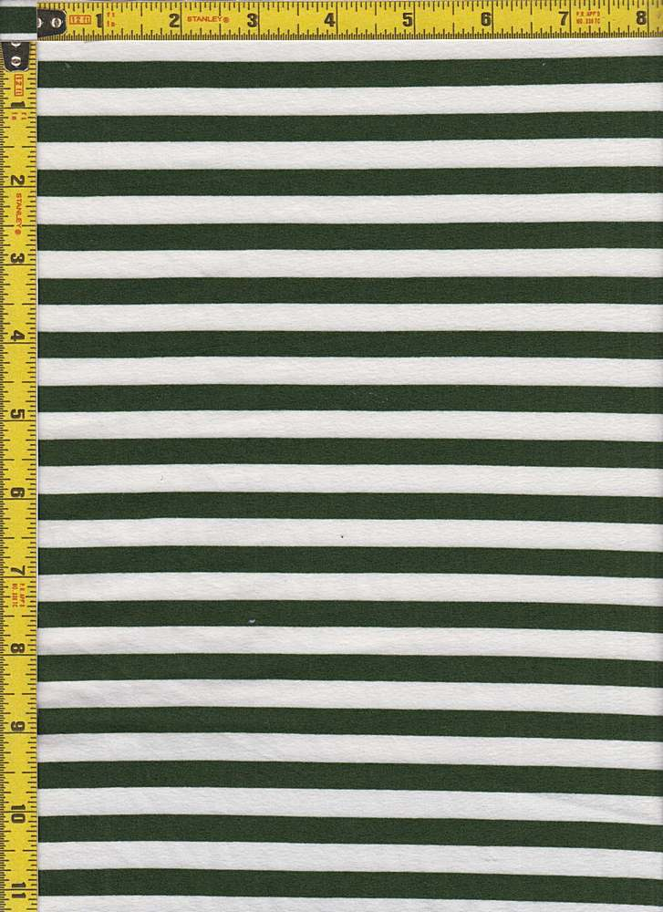 """BP70097 / MILITARY GREEN/IVORY / DTY BRUSHED STRIPES 3/8"""" X 3/8"""""""
