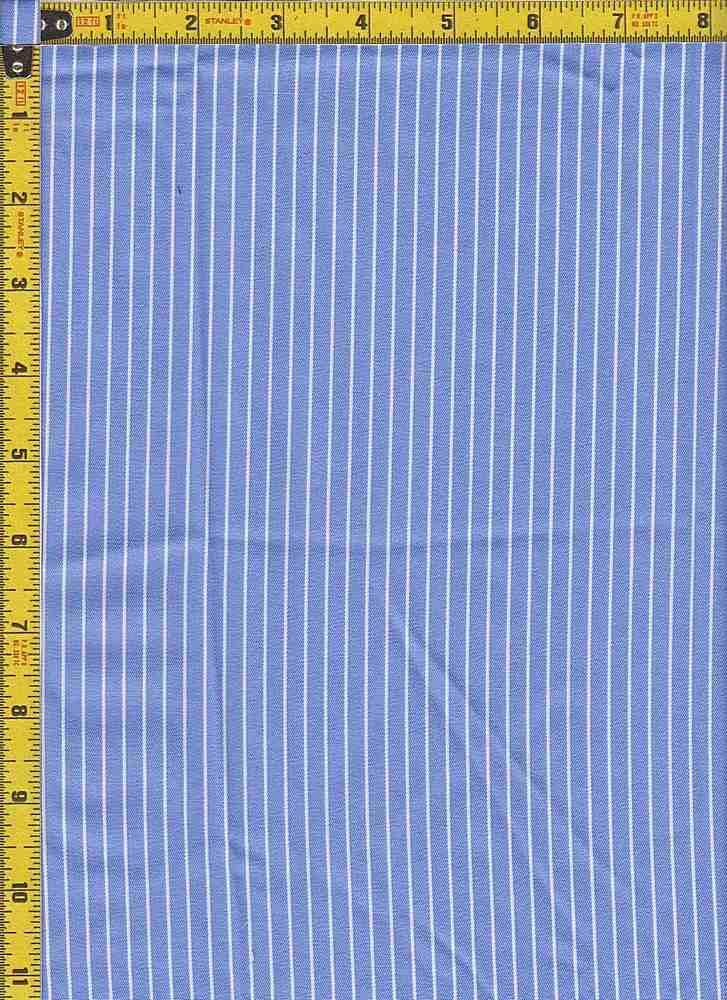 BP70108 / LT BLUE/WHITE / TWILL STRIPES 4