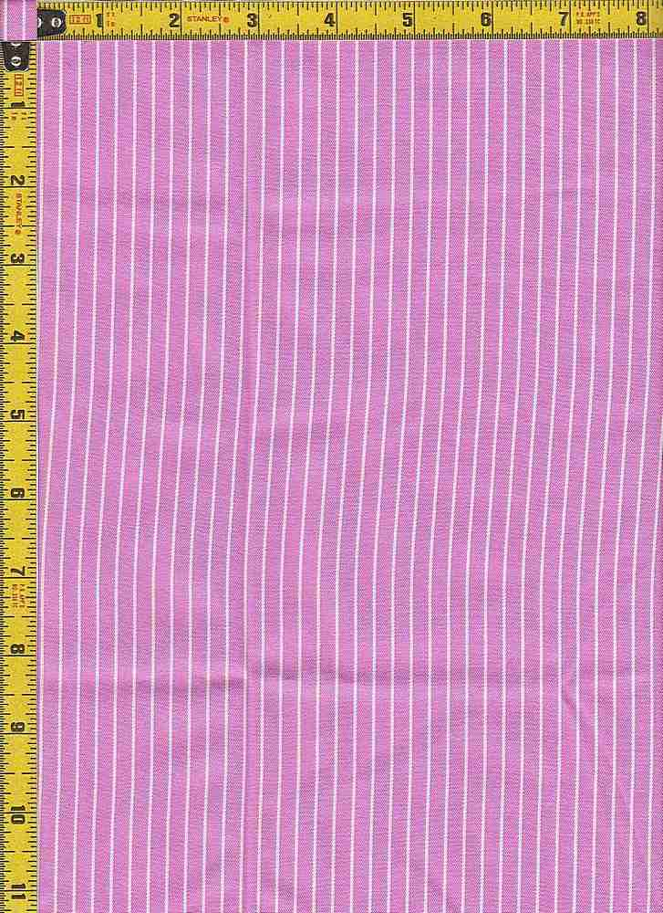 BP70108 / PINK/WHITE / TWILL STRIPES 4