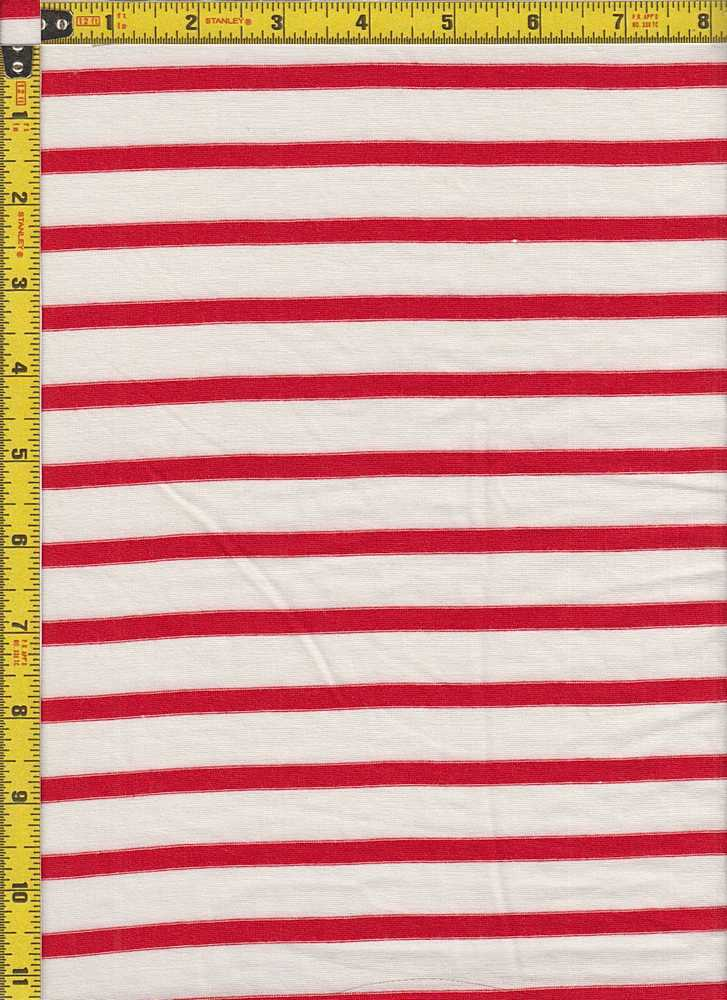 """BP70054 / IVORY/RED / RS STRIPES 5/8"""" X 1/4"""""""