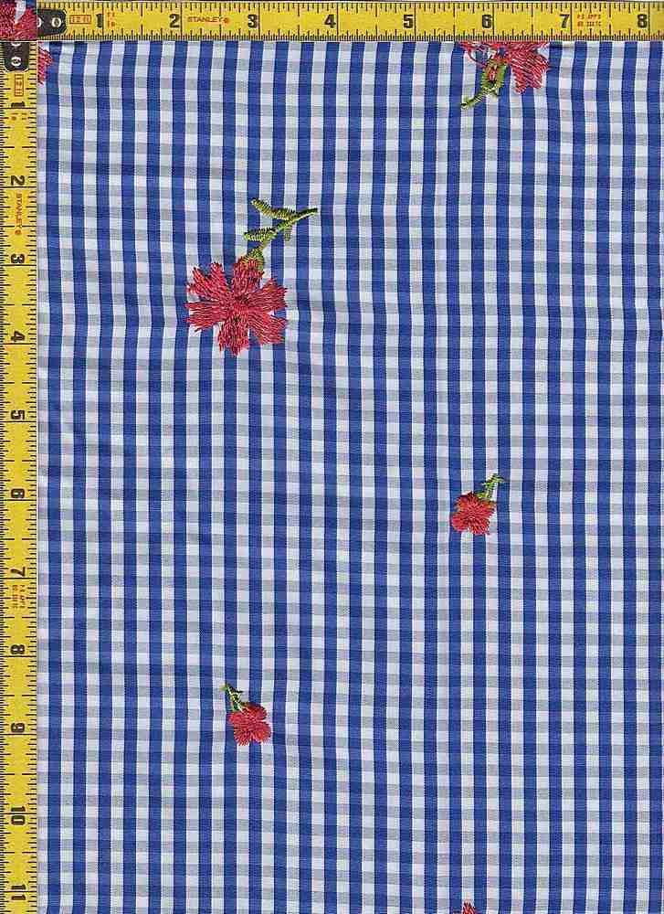 BP30112-13721BA / DARK BLUE / SIMPLE PLAID EMBROIDERY PRINT- 13721B-AO
