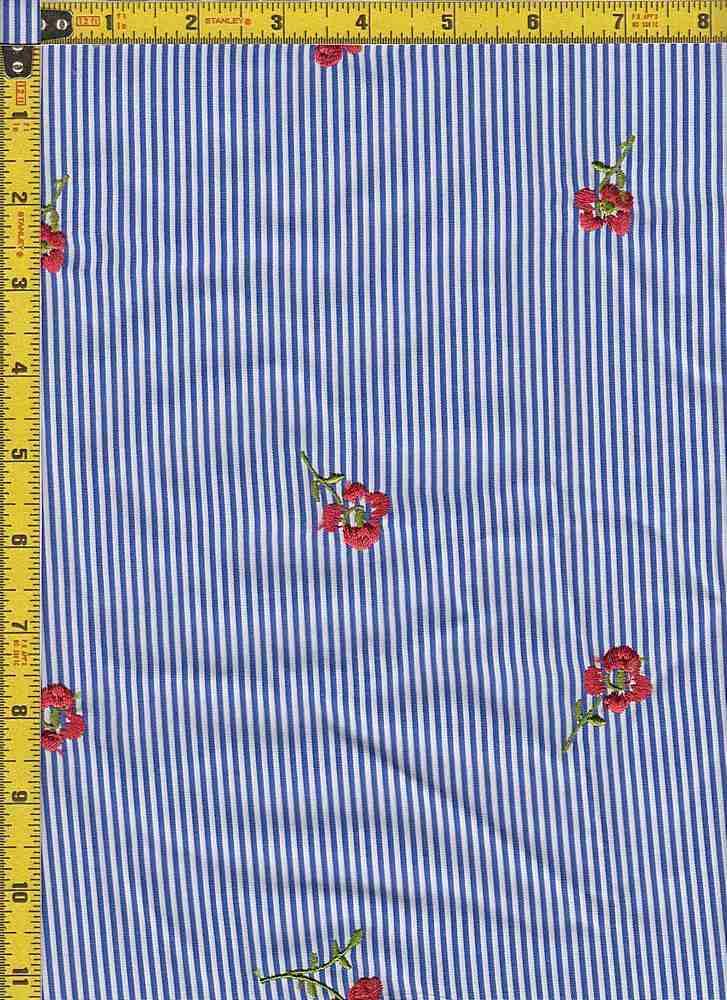 BP30113-10878B / DK BLUE / TWILL STRIPE EMBROIDERY PRINT - 10878B