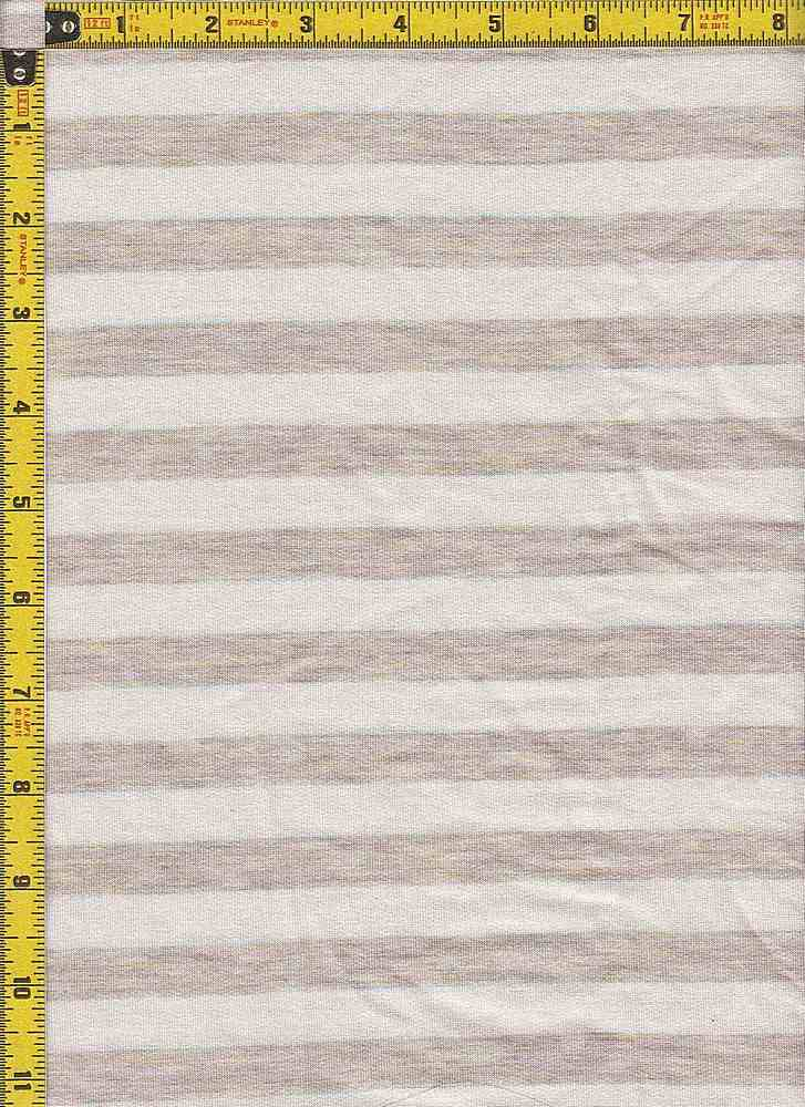 BP70114 / IVORY/OATMEAL / BABY FRENCH TERRY STRIPES - BP70114