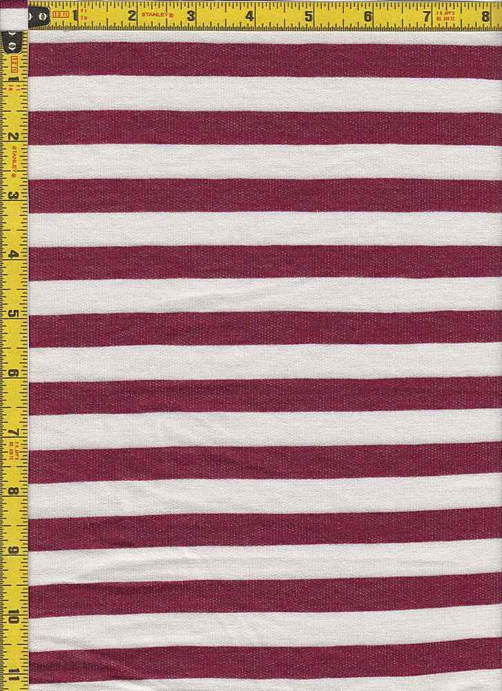 BP70114 / IVORY/WINE / BABY FRENCH TERRY STRIPES - BP70114