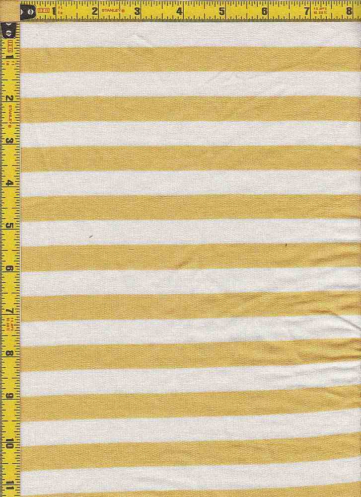 BP70114 / IVORY/MUSTARD / BABY FRENCH TERRY STRIPES - BP70114