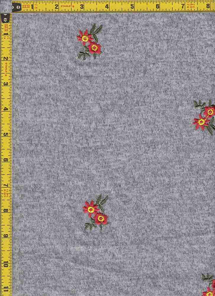 BP39003-30003 / DK H. GRAY / TWO-TONED HACCI BRUSH EMBROIDERY PRINT - 30003