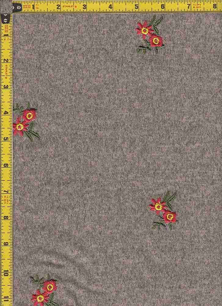 BP39003-30003 / MOCHA / TWO-TONED HACCI BRUSH EMBROIDERY PRINT - 30003