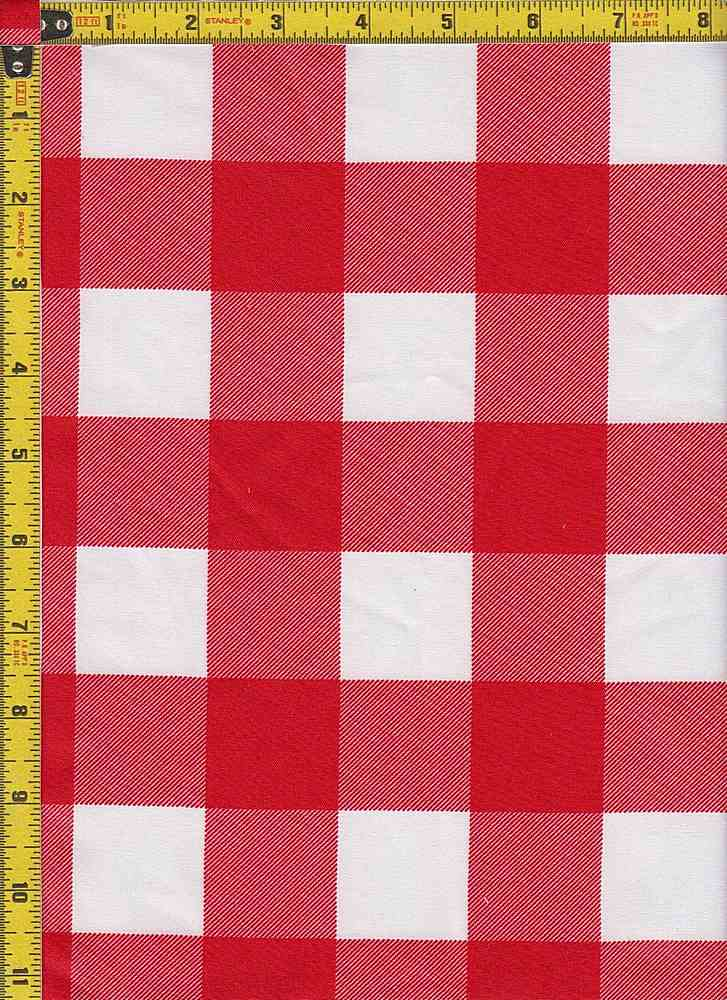 BP29115-14366 / RED / TWILL CHECKERED SOLID PRINT - 14366