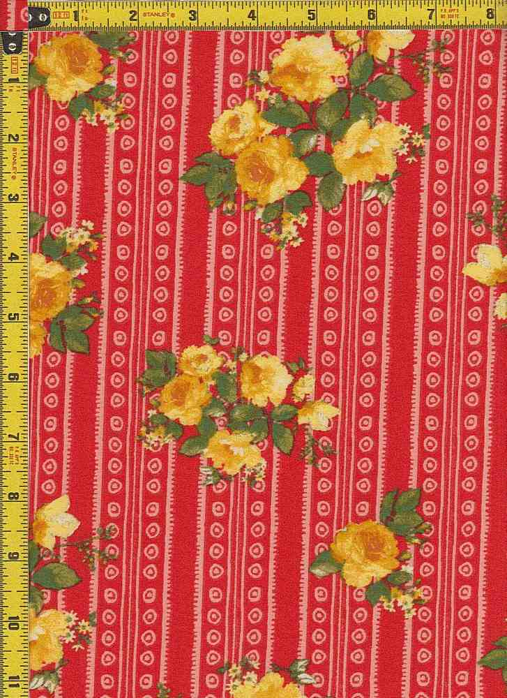BP25055 - 14339 / RED / DTY BRUSHED PRINT - 14339