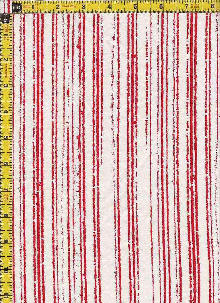 BP25055-14009 / 411 RED / DTY BRUSHED PRINT - 14009