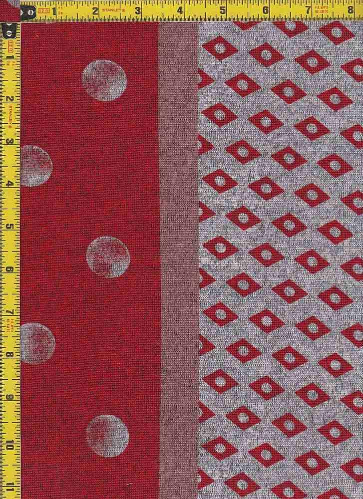 BP29003-13635B / LT RED / TWO-TONED HACCI BRUSH DOT PRINT -13635B-DB