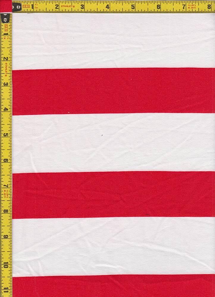 BP29055-14777 / IVORY/LT RED / DTY BRUSHED STR PRINT-14777