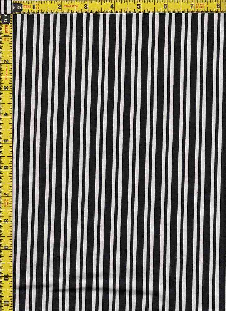 BP29055-14876 / BLACK/WHITE / DTY BRUSHED STR PRINT-14876