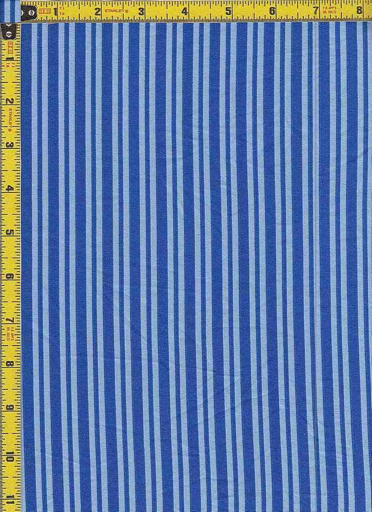 BP29055-14876 / ROYAL BLUE/LT BLUE / DTY BRUSHED STR PRINT-14876