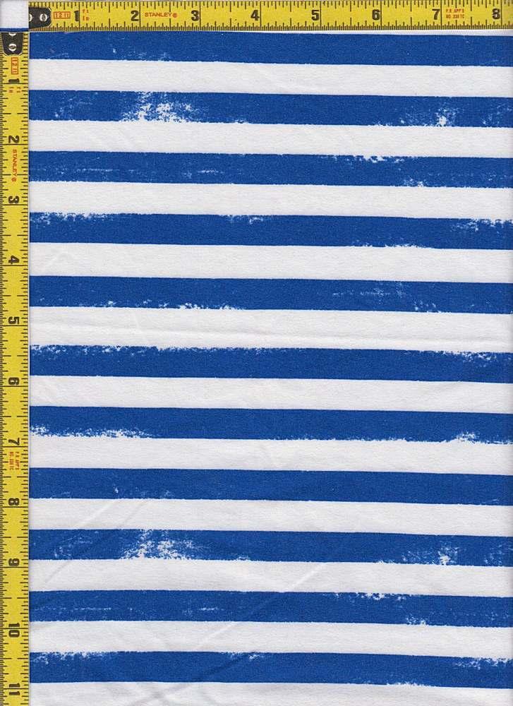 BP29055-14785 / ROYAL BLUE / DTY BRUSHED STR PRINT-14785