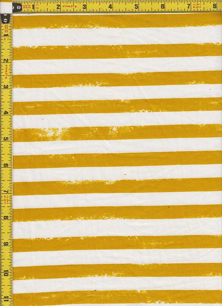 BP29055-14785 / MUSTARD / DTY BRUSHED STR PRINT-14785