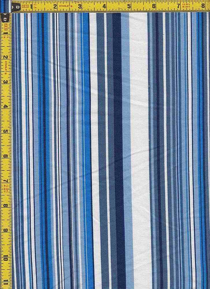 BP29055-14775B / BLUE / DTY BRUSHED STR PRINT - 14775B