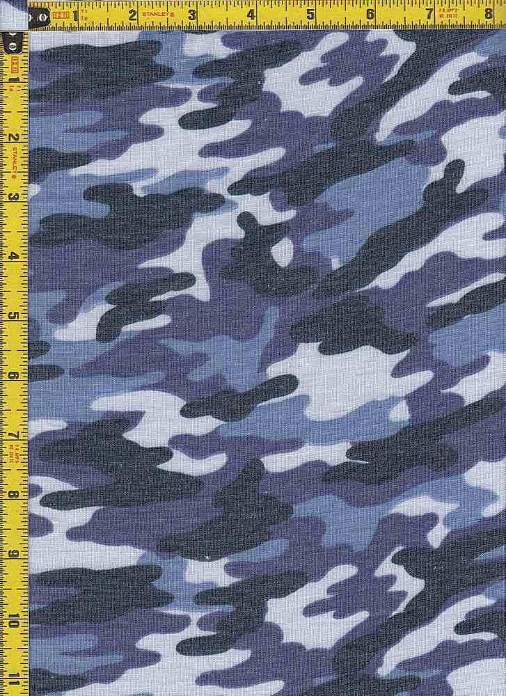 BP27005-10574D / BLUE / POLY RAYON SPANDEX PRINT-10574D