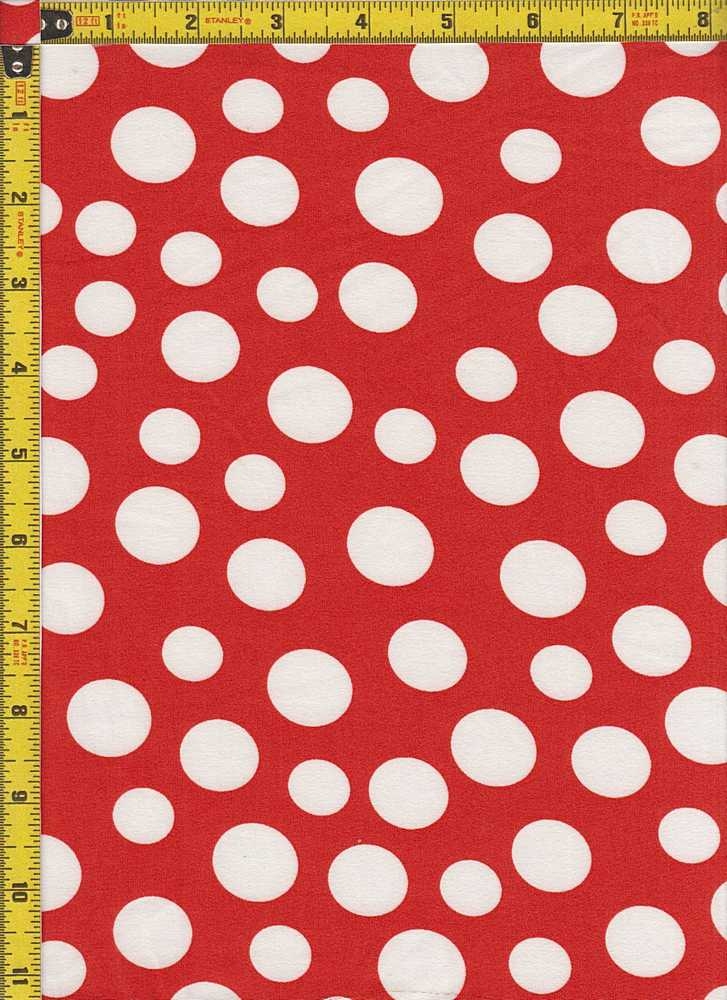 BP27055-11716B / RED / DTY BRUSHED DOT PRINT-11716B
