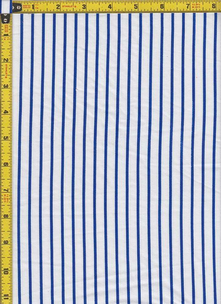 BP29055-14877 / IVORY/ROYAL BLUE / DTY BRUSHED STR PRINT - 14877