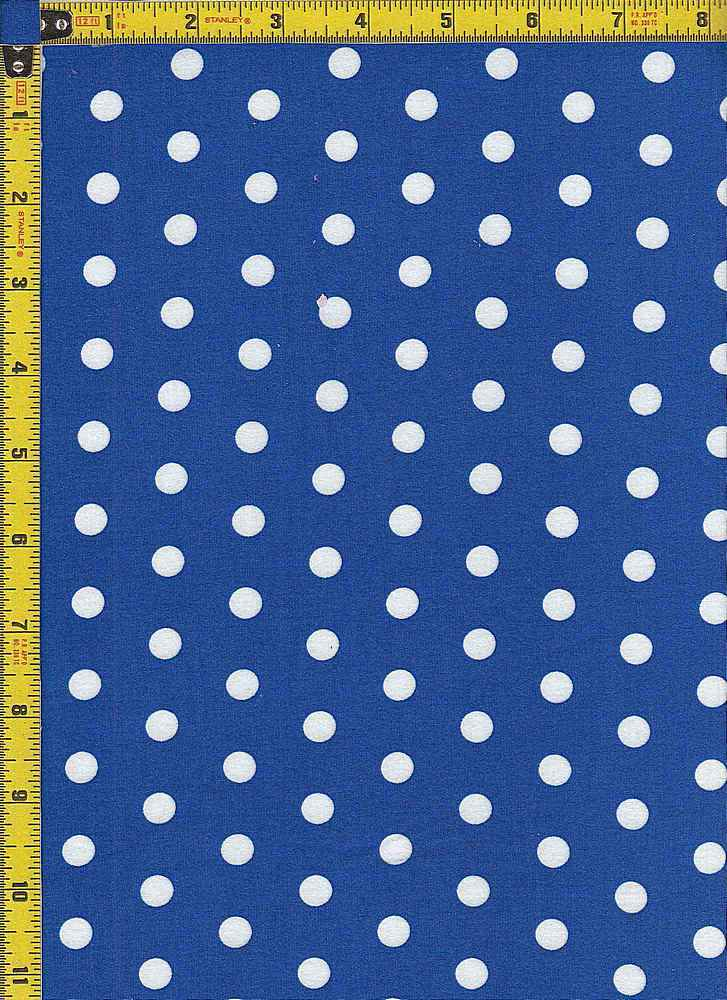 BP29055-11073 / ROYAL BLUE / DTY BRUSHED DOT PRINT - 11073