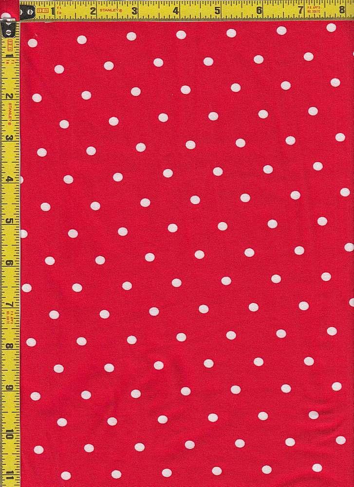 BP29055-14442 / RED / DTY BRUSH DOT PRINT-14442