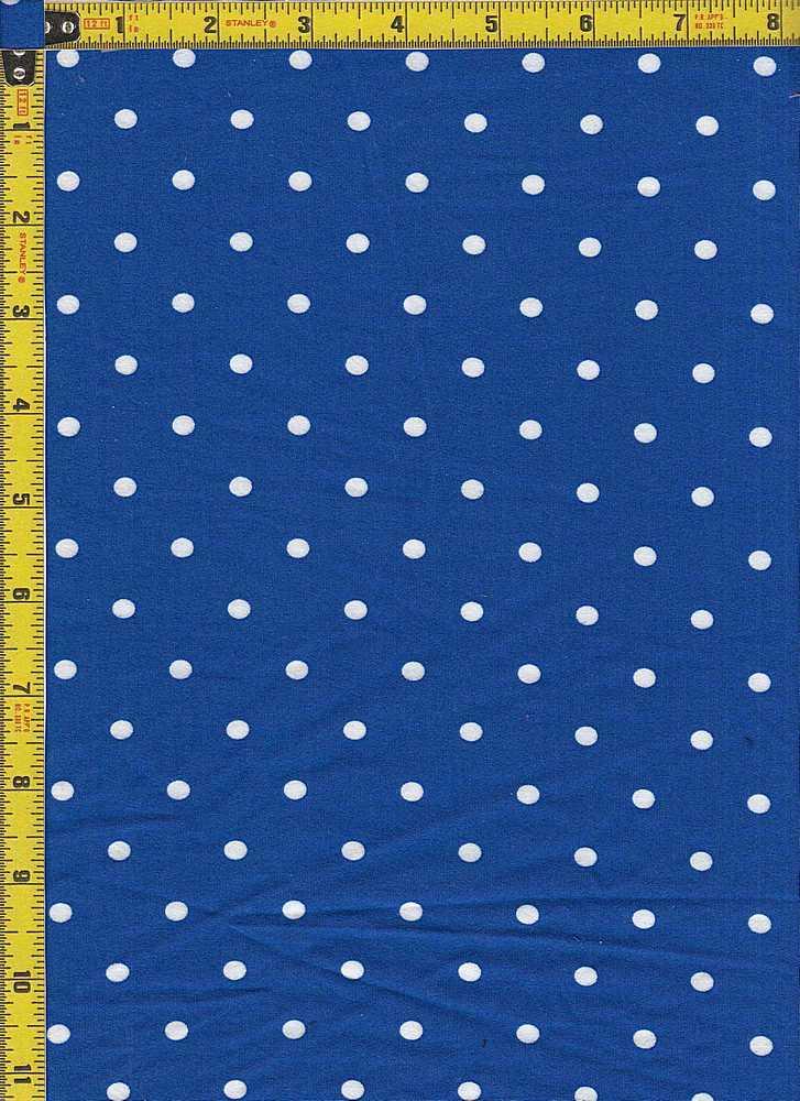 BP29055-14442 / ROYAL BLUE / DTY BRUSH DOT PRINT-14442