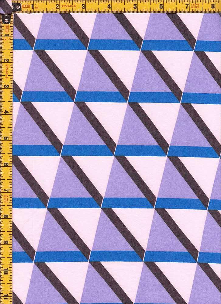 BP27055-11500 / LILAC/BLUE / DTY BRUSHED PRINT-11500