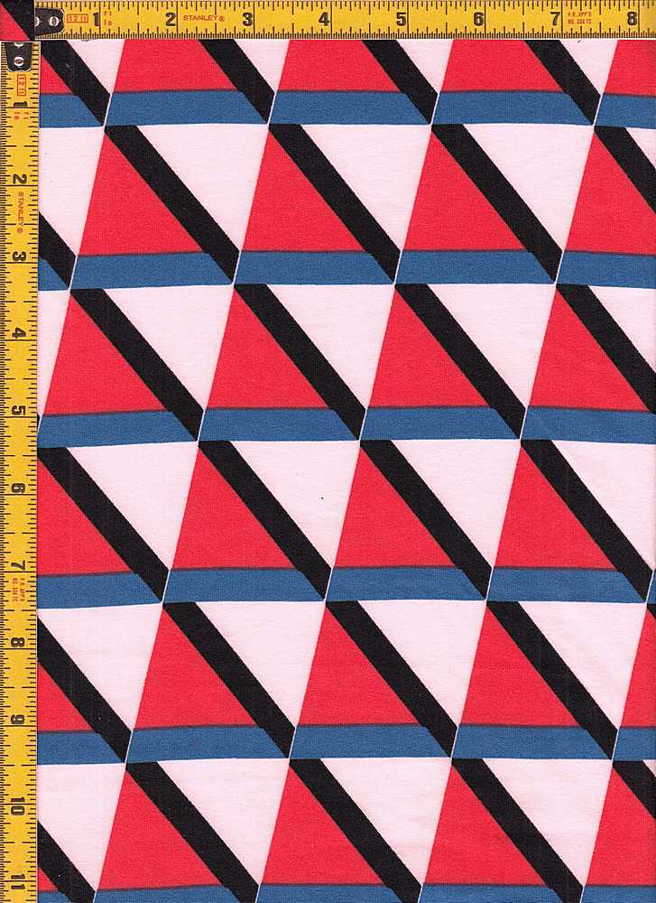 BP27055-11500 / RED/TEAL / DTY BRUSHED PRINT-11500