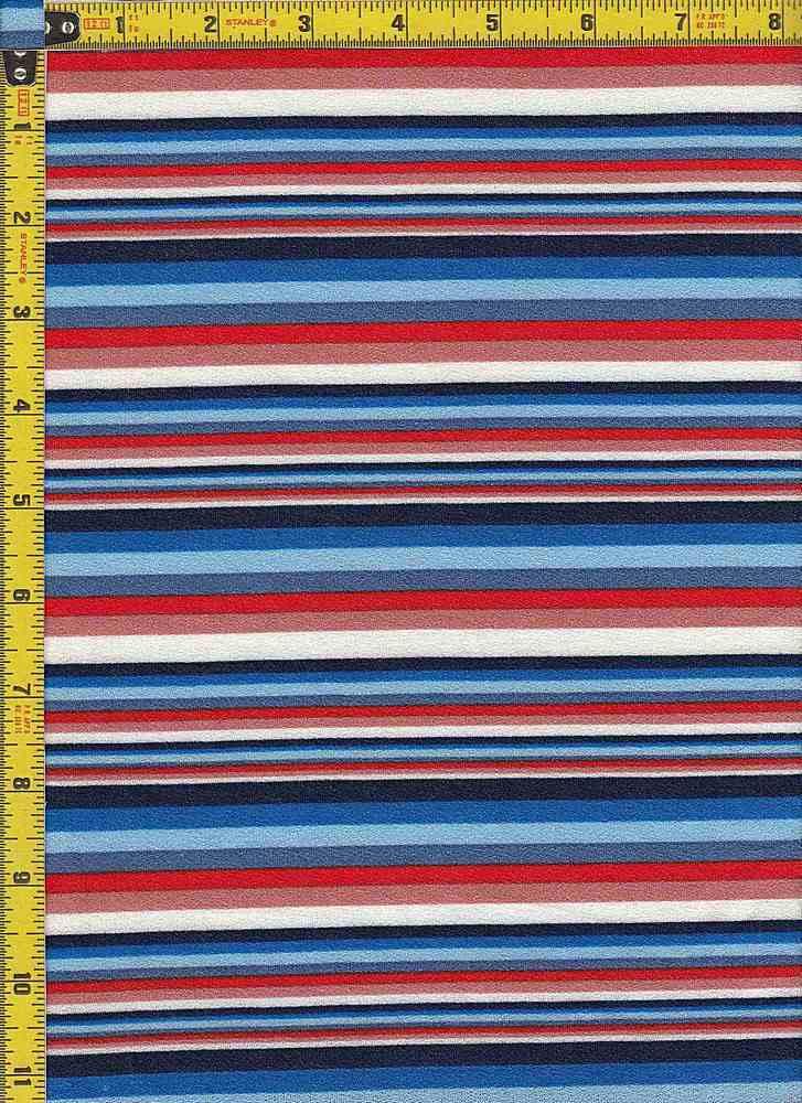 BP28115-13213B / BLUE/RED / DORIS CREPE PRINT-13213B