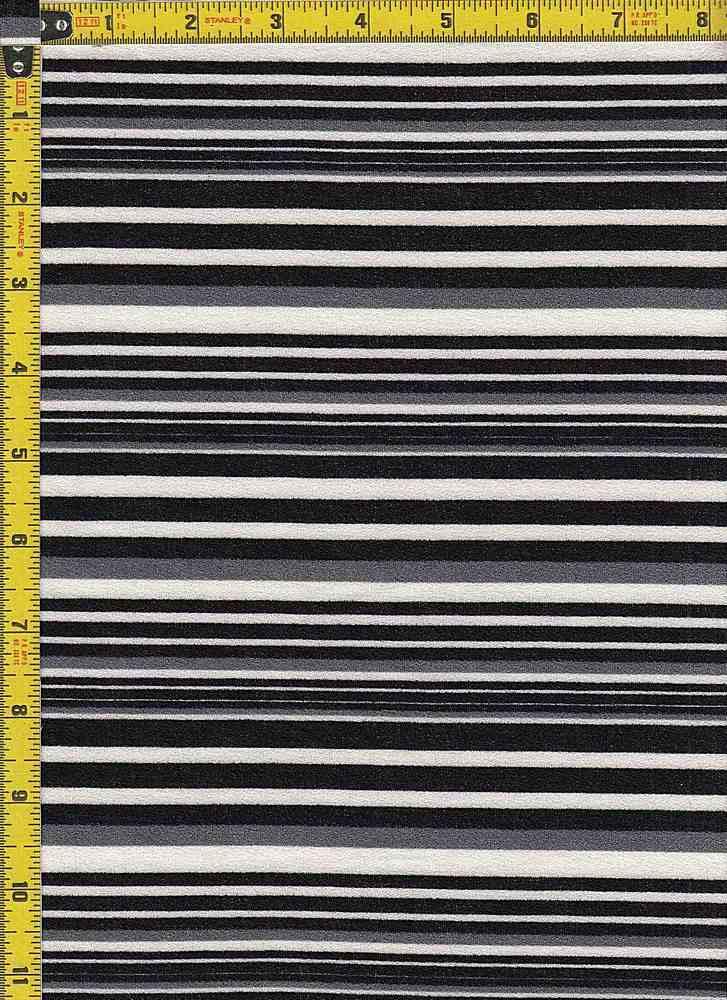 BP28115-13213B / BLACK/WHITE / DORIS CREPE PRINT-13213B