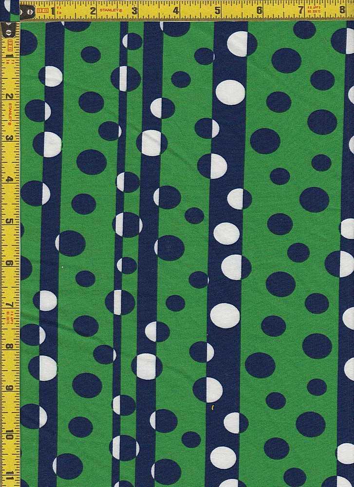 BP29055-20988B / GREEN/NAVY / DTY BRUSHED DOT PRINT-20988B