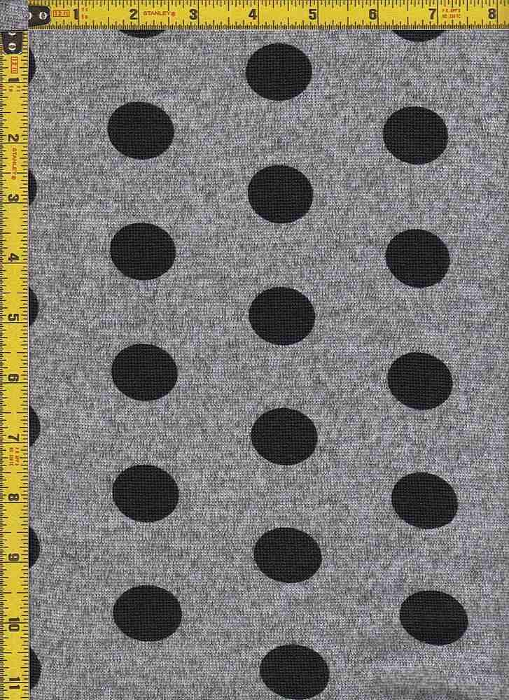 BP29003-14913 / H.GRAY/BLACK / 2T  HACCI BRUSH DOT PRINT-14913