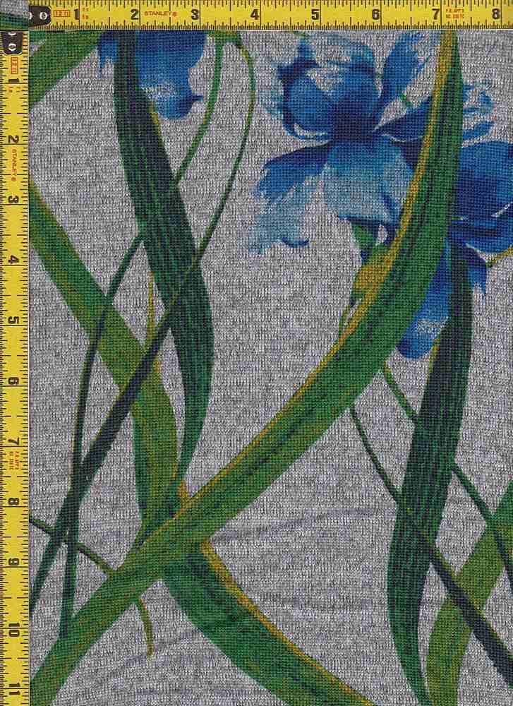 BP29003-14484 / DK H.GRAY / BLUE#2 / 2-TONED HACCI BRUSH PRINT-14484