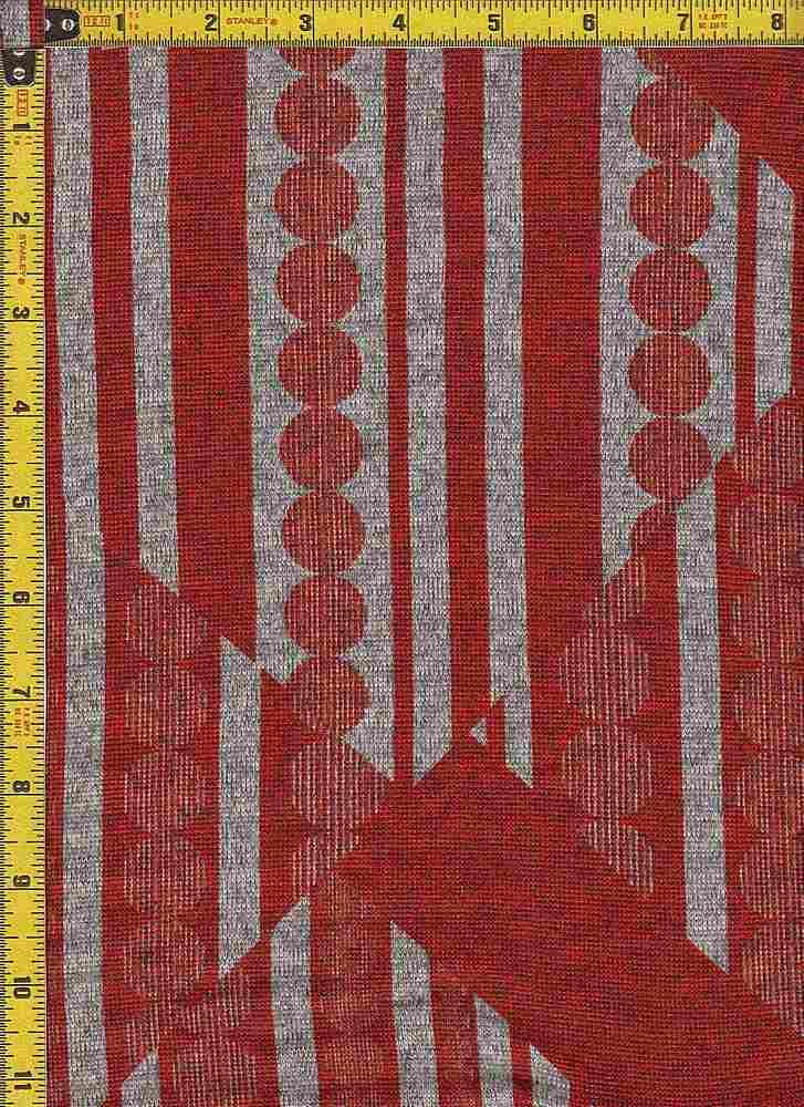 BP29003-10479B / RED / 2-TONED HACCI BRUSH PRINT-10479B