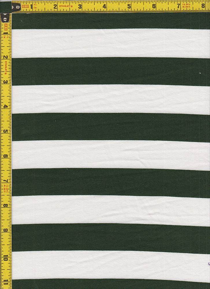 """BP70119 / MILITARY GREEN/IVORY / DTY BRUSHED STRIPES 1"""" X 1"""""""