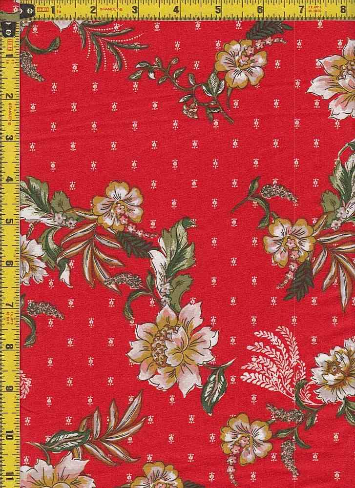BP29055-14897 / RED / DTY BRUSHED PRINT - 14897
