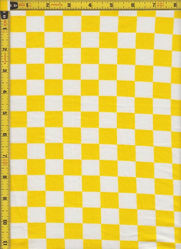 BP24118-80426A / YELLOW/WHITE / MICRO DTY BRUSH CHECKERED PRINT - 80426A