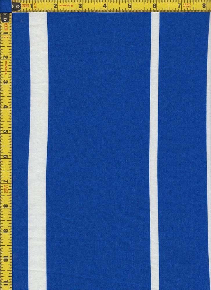BP24118-71201C / ROYAL BLUE/WHITE / MICRO DTY BRUSHED STRIPES PRINT-71201C