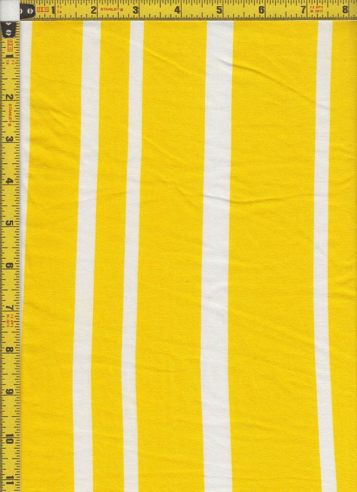 BP24118-71201C / YELLOW/WHITE / MICRO DTY BRUSHED STRIPES PRINT-71201C