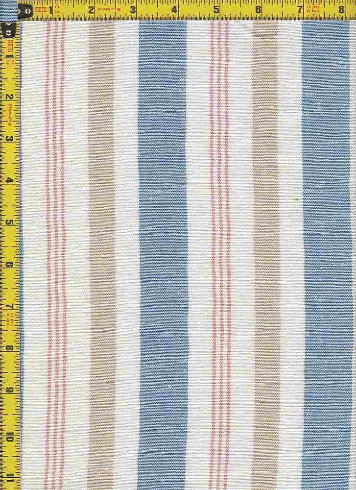 BP23125 - LINEN / LT BLUE/TAUPE / POLY RAYON COTTON LINEN
