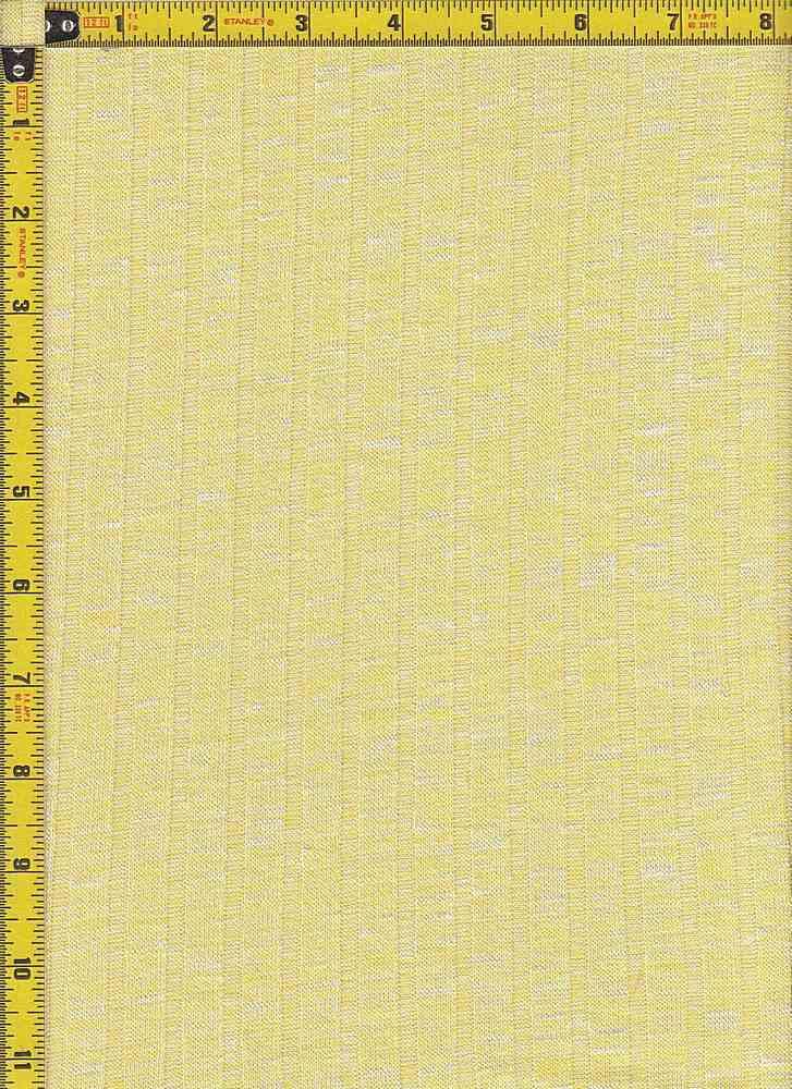 BP70017 / BANANA/WHITE / 9X4 KNIT RIB  52 RAYON SLUB/45P/3SP