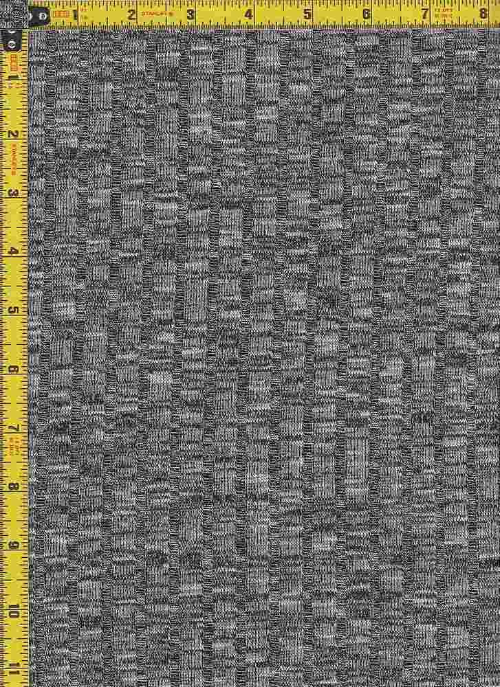 BP70017 / H.CHARCOAL/WHITE / 9X4 KNIT RIB  52 RAYON SLUB/45P/3SP
